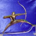 Archer de Chasse ( Bronze poli )