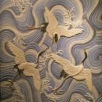 Garzas Sobre el Mar relief inspir d'un tapis japonais du 19eme(muse des arts dcoratifs  paris