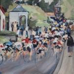 la Course Cycliste Fleche Wallone au Mur de Huy