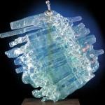 L'Africaine ( verre et mtal, 55x55x15cm )